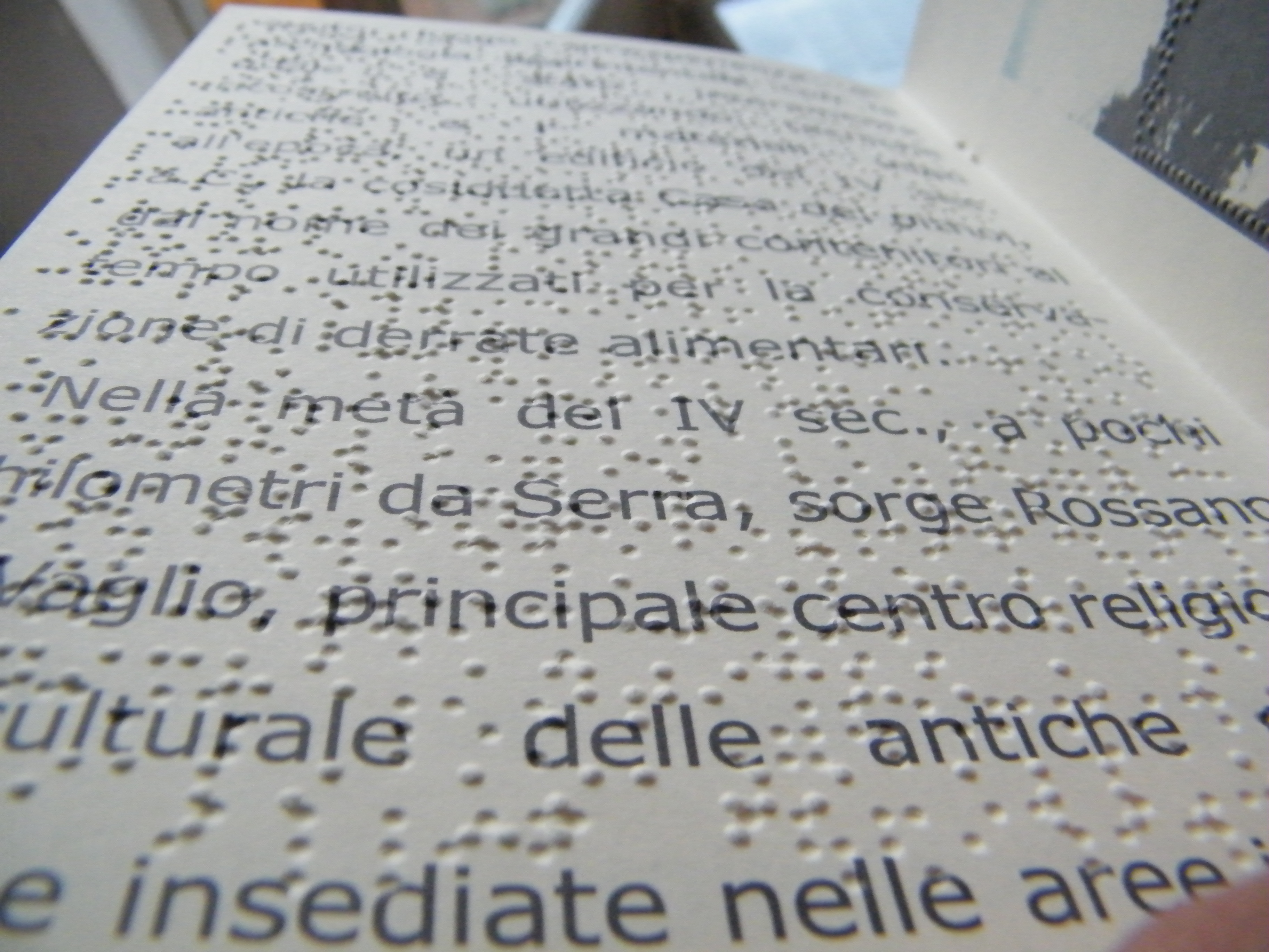 brochure Braille e Large Print - Progetto Welcome