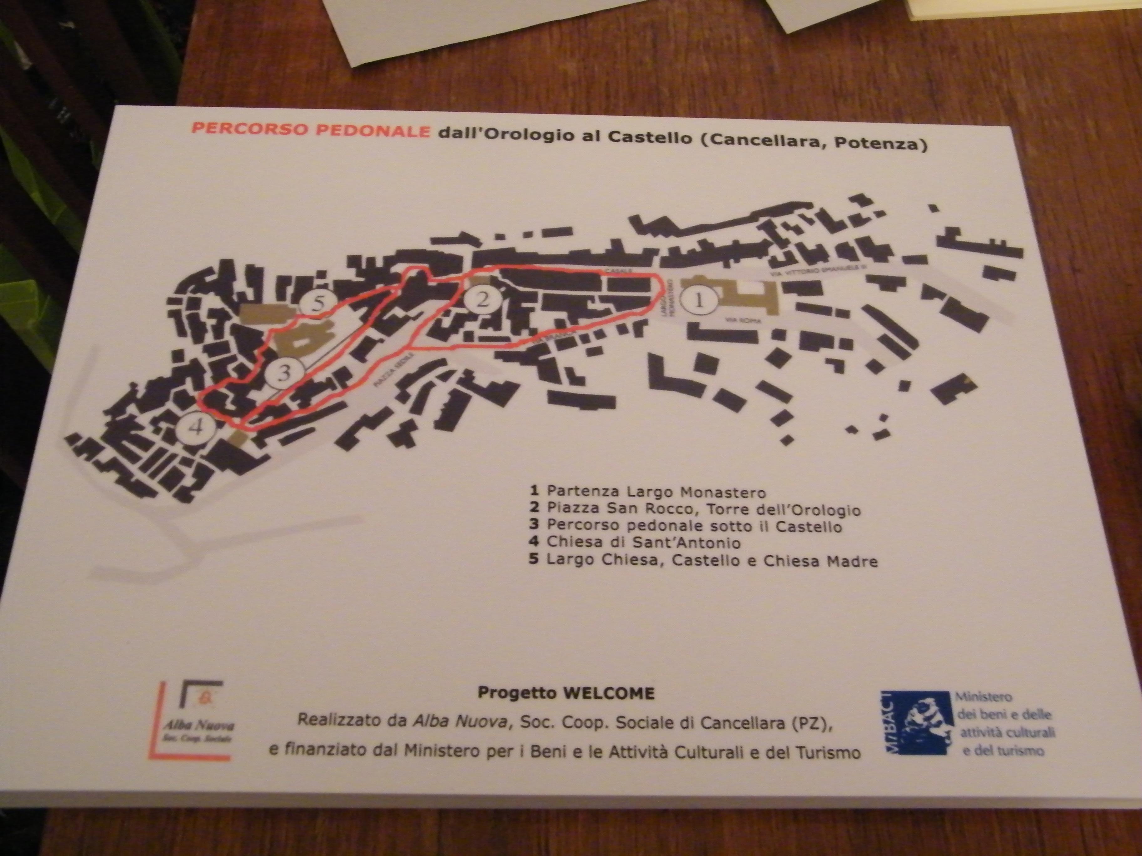 Percorso pedonale, Cancellara, Progetto Welcome