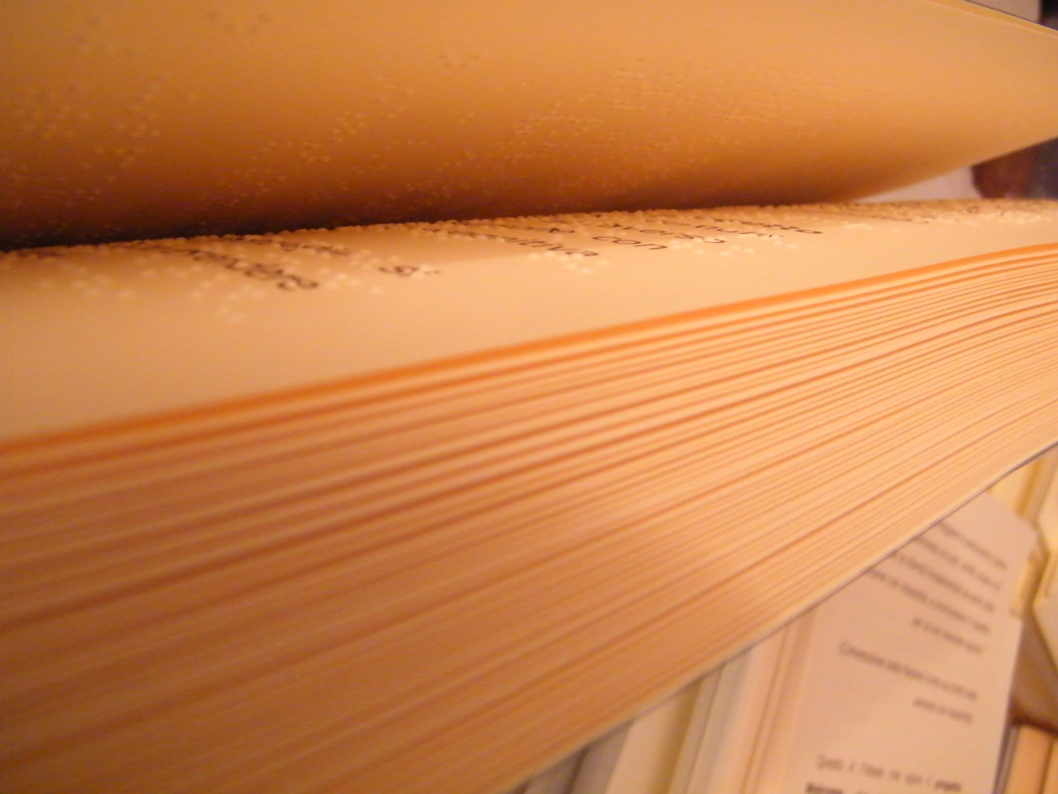 Interno libro Braille