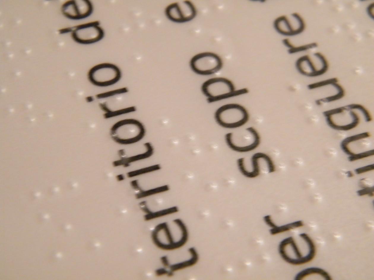 braille large print pannelli tattili stamperia